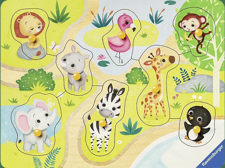 RAVENSBURGER Unterwegs im Zoo Puzzle, Mehrfarbig