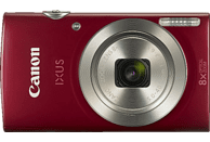 CANON IXUS 185 Digitalkamera Rot, 8fach opt. Zoom, LCD (TFT)