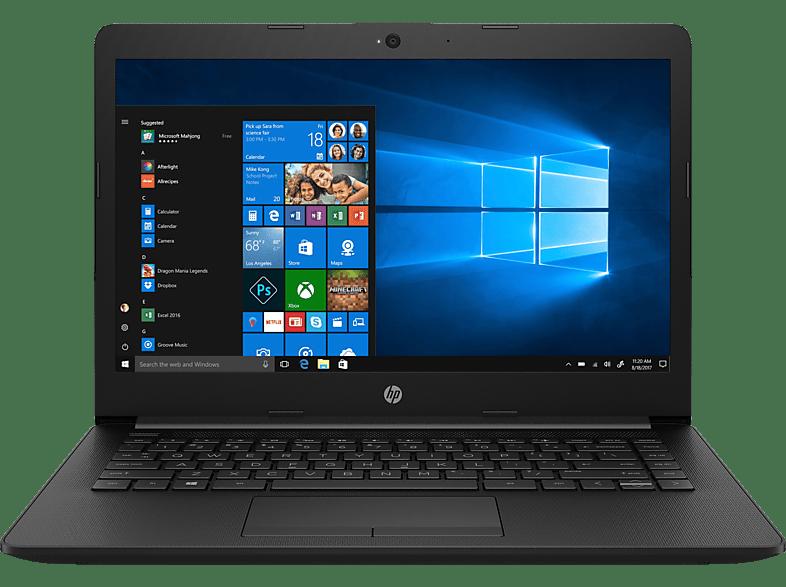HP 14-cm0304ng, Notebook mit 14 Zoll Display, AMD Ryzen 5 Prozessor, 8 GB RAM, 1 TB HDD, 128 GB SSD, Radeon™ Vega 8, Schwarz
