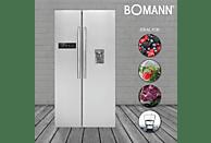 BOMANN SBS 2211 IX  Side-by-Side (329 kWh/Jahr, A++, 1788 mm hoch, Edelstahl)