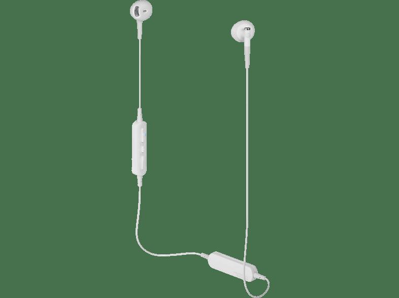 AUDIO-TECHNICA ATH-C200BTWH, In-ear Kopfhörer Bluetooth Weiß