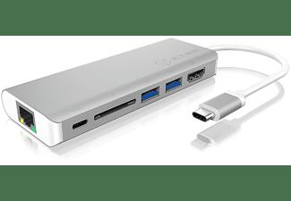 RAIDSONIC IB-DK4034-CPD Notebook Dockingstation, Silber