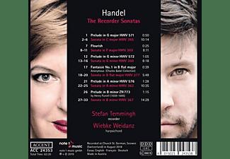 Temmingh,Stefan/Weidanz,Wiebke - Die Sonaten für Blockflöte  - (CD)