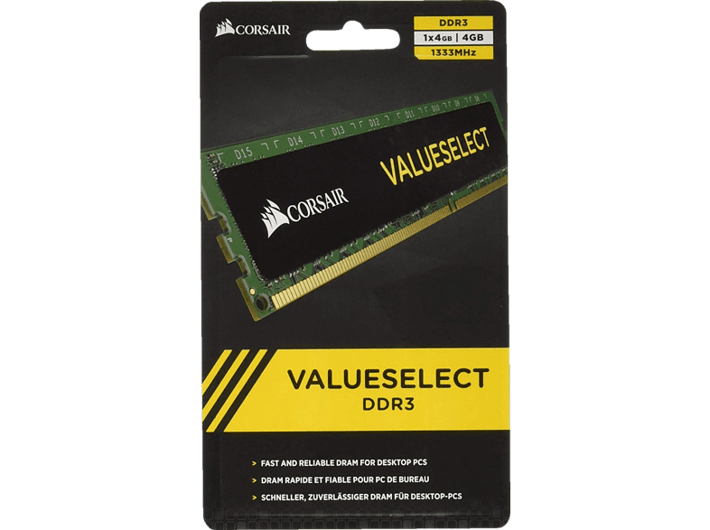 CORSAIR VALUESELECT Arbeitsspeicher 4096 MB DDR3