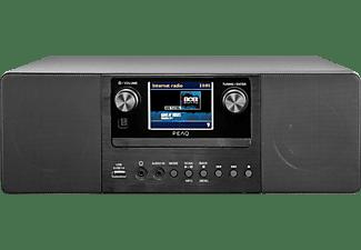PEAQ PDR 360 BT-B DAB+ Internetradio, DAB+, FM, Internet Radio, Bluetooth, Schwarz/Grau