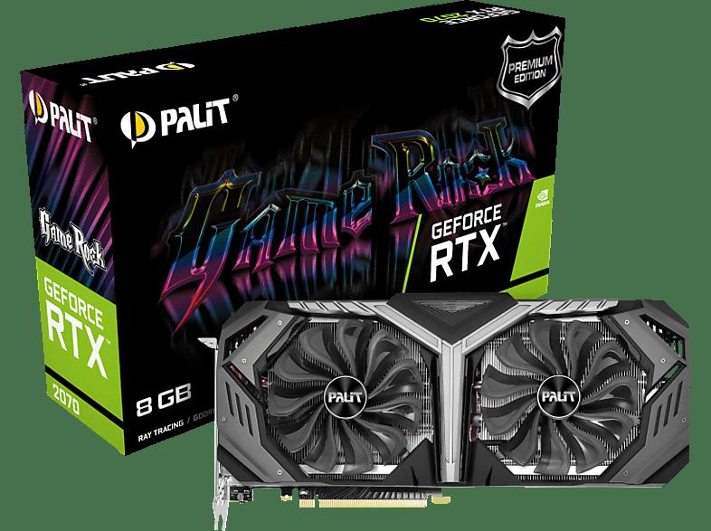 PALIT GeForce RTX™ 2070 GameRock Premium 8GB (NE62070H20P2-1061G) (NVIDIA, Grafikkarte)