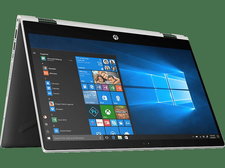HP Pavilion x360 14-cd1300ng, Convertible mit 14 Zoll Display, Core™ i3 Prozessor, 8 GB RAM, 256 GB SSD, Intel® UHD-Grafik 620, Schwarz/Silber