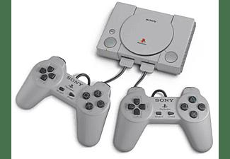 Consola - PlayStation Classic, Miniatura, Cable HDMI, Cable USB, Mandos, Gris