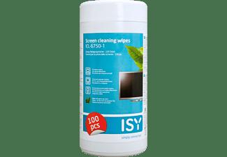 ISY Reinigungstücher für Bildschirme, 100 Stück, Grüner Tee Tücher (ICL-6750-1)