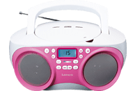 LENCO SCD 301 Tragbares Radio (Pink/Weiß)