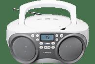 LENCO SCD 301 Tragbares Radio (Grau/Weiß)