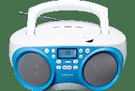 LENCO SCD 301 Tragbares Radio (Blau/Weiß)