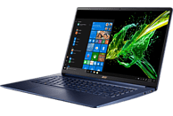 ACER Swift 5 (SF515-51T-73Q7), Notebook mit 15.6 Zoll Display, Core™ i7 Prozessor, 16 GB RAM, 512 GB SSD, Intel® UHD-Grafik 620, Blau