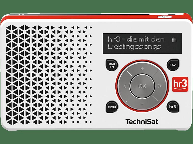 TECHNISAT DIGITRADIO 1 HR3 EDITION DAB+ Digitalradio, DAB+, AM, FM, Weiß/Rot
