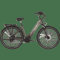 FISCHER - FAHRRAD CITA 6.0I Citybike (28 Zoll, 44 cm, City Rahmen, 504 Wh, Platingrau matt)
