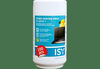 ISY Reinigungstücher für Bildschirme, 100 Stück, Zitronenduft (ICL-6450-1)