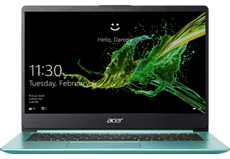 ACER Swift 1 (SF114-32-P8VP), Notebook mit 14 Zoll Display, Pentium® Silver Prozessor, 4 GB RAM, 64 GB eMMC, Intel® UHD-Grafik 605, Aqua Green