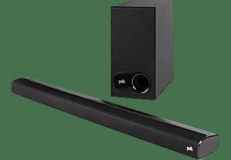 POLK AUDIO Signa S2 Soundbar  (2x  (32 x 112 mm) ovale Breitbandtreiber, 2x 25 mm Hochtöner, Schwarz