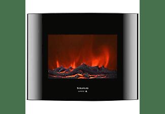 Estufa eléctrica - Taurus Toronto P, 2000W, 2 niveles 5 intesidades, Chimenea, Negro