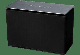 MEDION Lifebeat X61073 Lautsprecher App-steuerbar, Bluetooth, W-LAN Schnittstelle, Schwarz / Silber