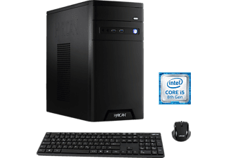 HYRICAN CYBERGAMER 6169 BLACK, Gaming PC mit Core™ i5 Prozessor, 8 GB RAM, 120 GB SSD, 1 TB HDD, Radeon™ RX 580, 8 GB