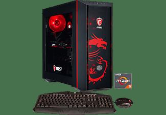 HYRICAN DRAGON E.6154, Gaming PC mit Ryzen™ 5 Prozessor, 16 GB RAM, 240 GB SSD, 2 TB HDD, Radeon™ RX 580, 8 GB