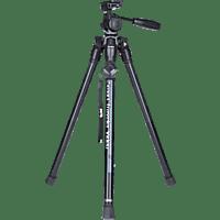 ROLLEI Smart Traveler Dreibeinstativ Videostativ, Grau, Höhe offen bis 135 cm