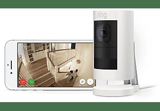 RING Stick Up Cam Elite - weiß, HD-Überwachungskamera für den Innen- und Außenbereich