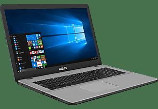ASUS VivoBook N705FN-GC009T, Notebook mit 17,3 Zoll Display, Intel® Core™ i5 Prozessor, 16 GB RAM, 1 TB HDD, 256 GB SSD, GeForce® MX150, Star Grey