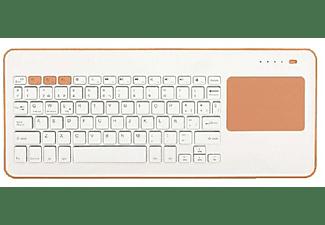Teclado - Silver Ht ToucHPad Wireless Kb Silver Ht White + Peach