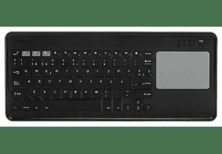 Teclado inalámbrico - Silver Ht ToucHPad Wireless Kb Silver Ht, 78 teclas, Bluetooth 3.0, Negro, Gris