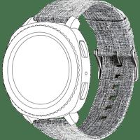 TOPP 40-37-7588, Ersatz-/Wechselarmband, Samsung, Garmin, Gear Sport, Galaxy Watch 42 mm, Samsung Galaxy Active, vivomove, vivoactive3, Grau