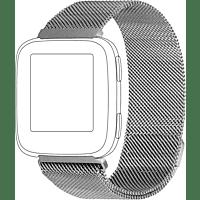 TOPP 40-37-1887, Ersatz-/Wechselarmband, Fitbit, Versa, Silber