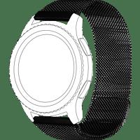 TOPP 40-37-1906, Ersatz-/Wechselarmband, Samsung, Huawei, Gear S3 (frontier, classic), Galaxy Watch 46mm, Watch GT, Schwarz