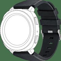TOPP 40-37-7596, Ersatz-/Wechselarmband, Samsung, Garmin, Gear Sport, Galaxy Watch 42 mm, Samsung Galaxy Active, vivomove, vivoactive3, Schwarz