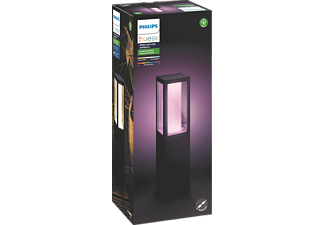 Impress LED Sockelleuchte Schwarz PHILIPS Hue White /& Color Amb