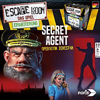 NORIS Escape Room Secret Agent Gesellschaftsspiel, Mehrfarbig