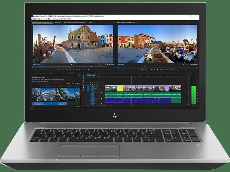 HP ZBook 17 G5, Notebook mit 17.3 Zoll Display, Core™ i7 Prozessor, 16 GB RAM, 512 GB SSD, Quadro® P1000, Schwarz, Silber