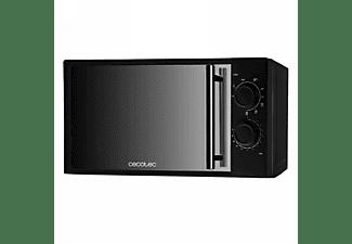 Microondas - Cecotec 1368 All Black Grill, 700W, 20L, Espejo, Negro