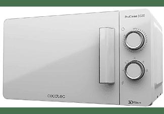 Microondas - Cecotec Proclean 3020, 700 W, 20 L, 5 potencias, Descongelación, Blanco