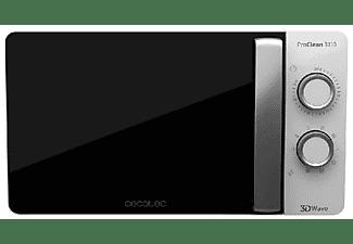 Microondas - Cecotec Proclean 3110, Con grill, 700 W, 20 L, 6 potencias, Descongela, Blanco y negro