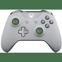Mando - Microsoft WL3-00073, Inalámbrico, Xbox One, Con acentos verdes, Gris