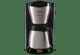PHILIPS Kaffeemaschine HD7546/20 Gaia für gemahlenen Kaffee mit Thermoskanne, schwarz/metall