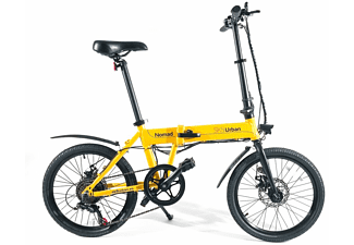 Bicicleta eléctrica - SK8 Urban Nomad, 250W, Plegable, 25km/h, Amarillo