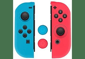 Funda + grips - Red Level, Para  Nintendo Switch, Silicona, Rojo, Azul