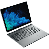 MICROSOFT Surface Book 2, Convertible mit 15 Zoll Display, Core™ i7 Prozessor, 16 GB RAM, 256 GB SSD, GeForce® GTX 1060, Silber