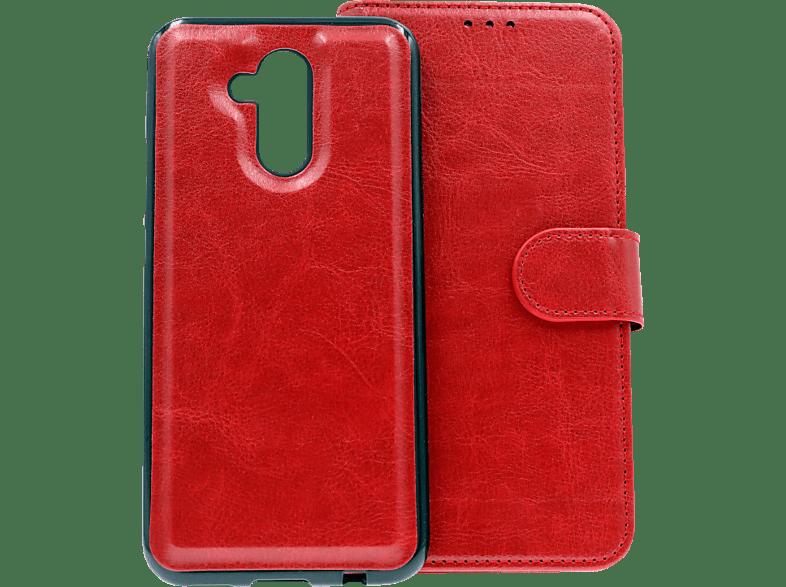 AGM 27431 , Bookcover, Huawei, Mate 20 Lite, Obermaterial Kunstleder und Silikon, Rot