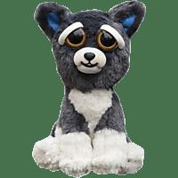 WILLIAM MARK Feisty Pets Grey Dog Plüschfigur, Grau