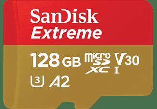SANDISK Extreme, Micro-SDXC Speicherkarte, 128 GB, 160 MB/s