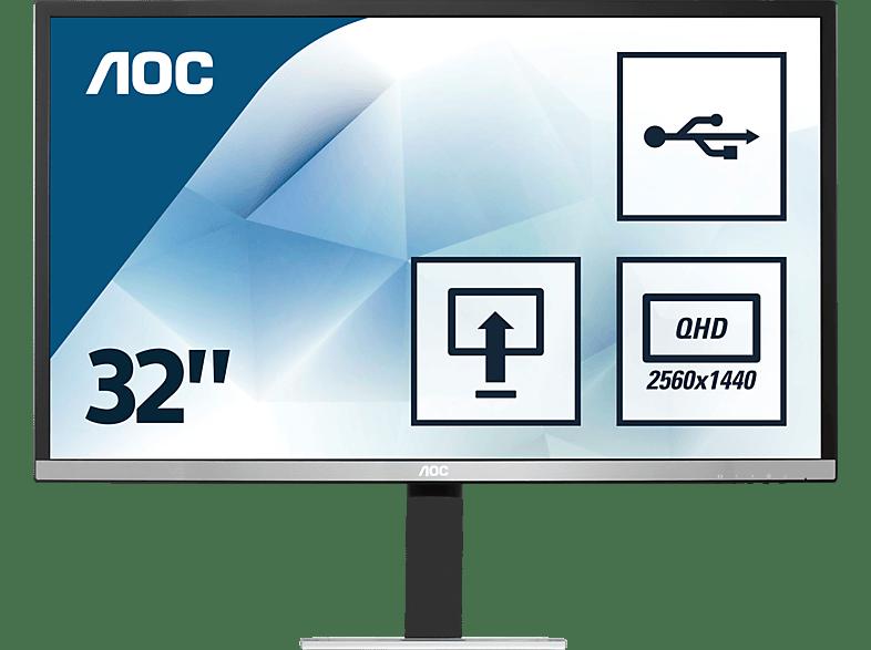 AOC Q3277PQU  32 Zoll WQHD Office Monitor (4 ms Reaktionszeit, 60 Hz)